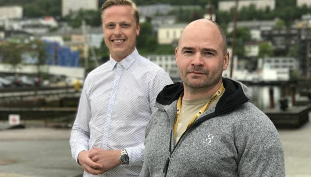 TicketCo-gründerne Carl-Erik Michalsen Moberg og Kåre Bottolfsen.  Foto: TicketCo.