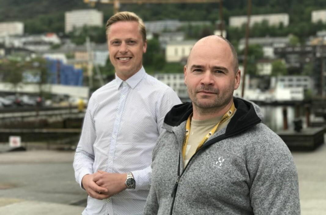 TicketCo-gründerne Carl-Erik Michalsen Moberg og Kåre Bottolfsen.