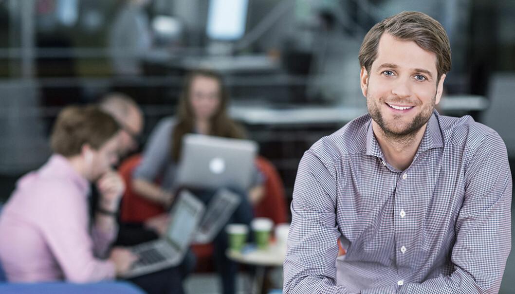 Gründer og CEO Sebastian Siemiatkowski i Klarna