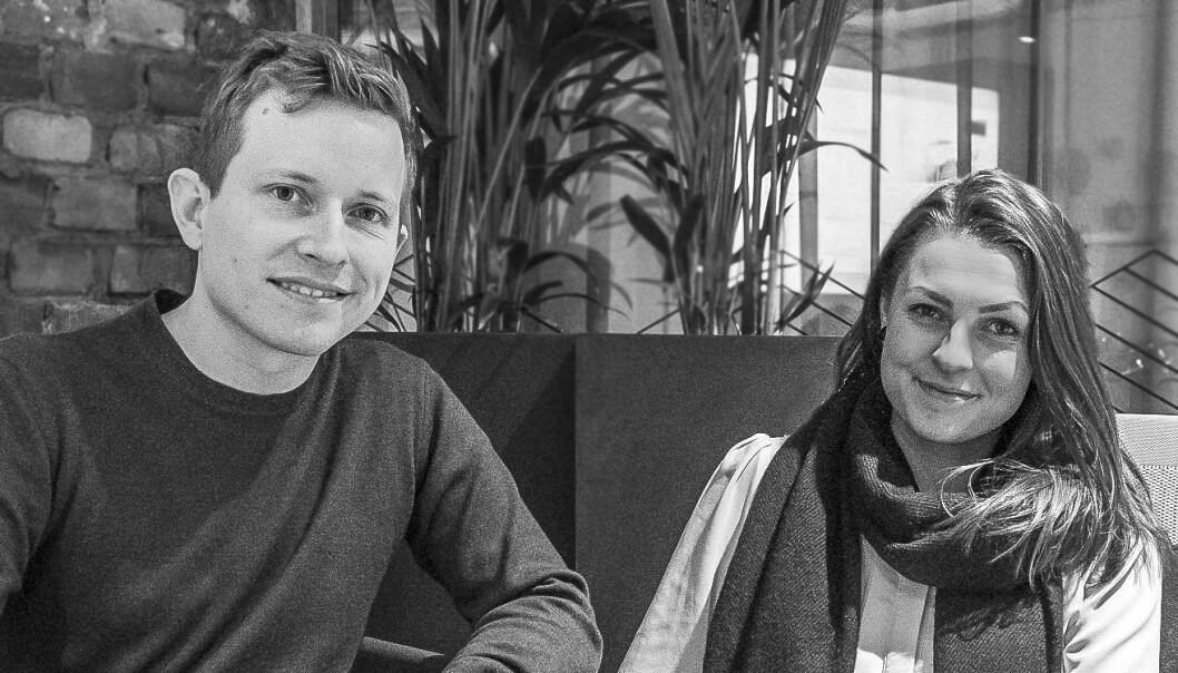 Øystein Høie og community manager Nanny Thorvaldsen fra Dreams. Foto: Benedicte Tandsæther-Andersen