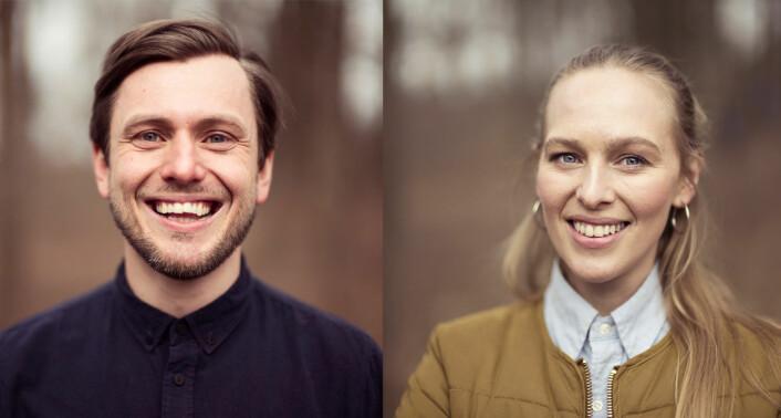"""De første """"spifferne"""" -- gründeren og markedssjefen bak Spiff: Carl-Nicolai Wessmann og Iben Andrea Syvertsen. Foto: Andreas Øverland"""