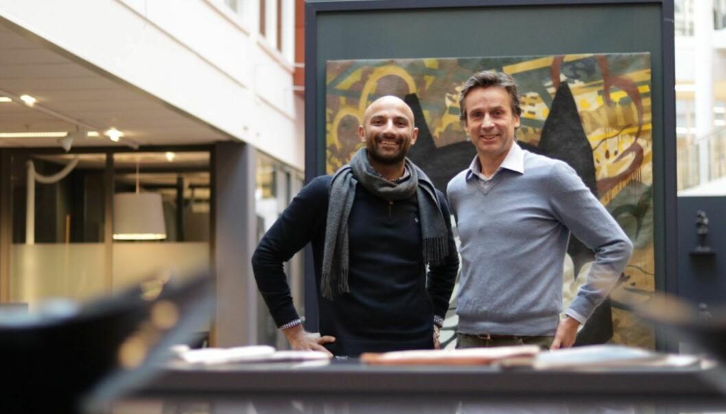 Aprila Bank: Israr Khan, CDO/CTO og Per Christian Goller, daglig leder og gründer. Foto: Lucas Weldeghebriel