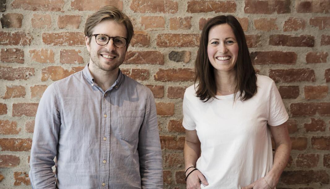 Gründerne Mads Lyngstad og Marie Mostad i Inzpire.me.