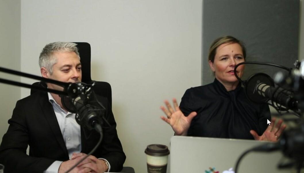 Salvador Baille og Anette Mellbye i Shifters podcast. Foto: Lucas Weldeghebriel