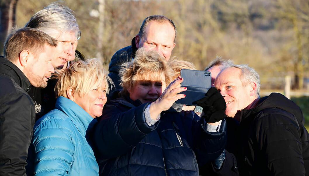 Det har vært lite å si på stemningen under regjeringsforhandlingene på Jeløya. Foto: Lennart Pettersen / Høyre / NTB scanpix