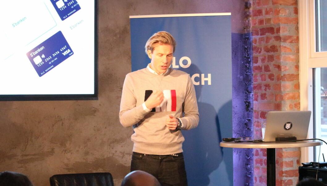 CDO Christoffer O. Hernæs fra S'Banken presenterer selskapets open banking-strategi (Foto: Johannes Jakobsen).