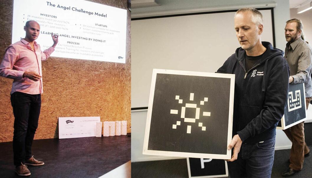 Knut Wien (t.v.) og Angel Challenge joins forces med Anders Lier og Tharald Nustad (t.h.) i Katapult. Fotos: Per-Ivar Nikolaisen