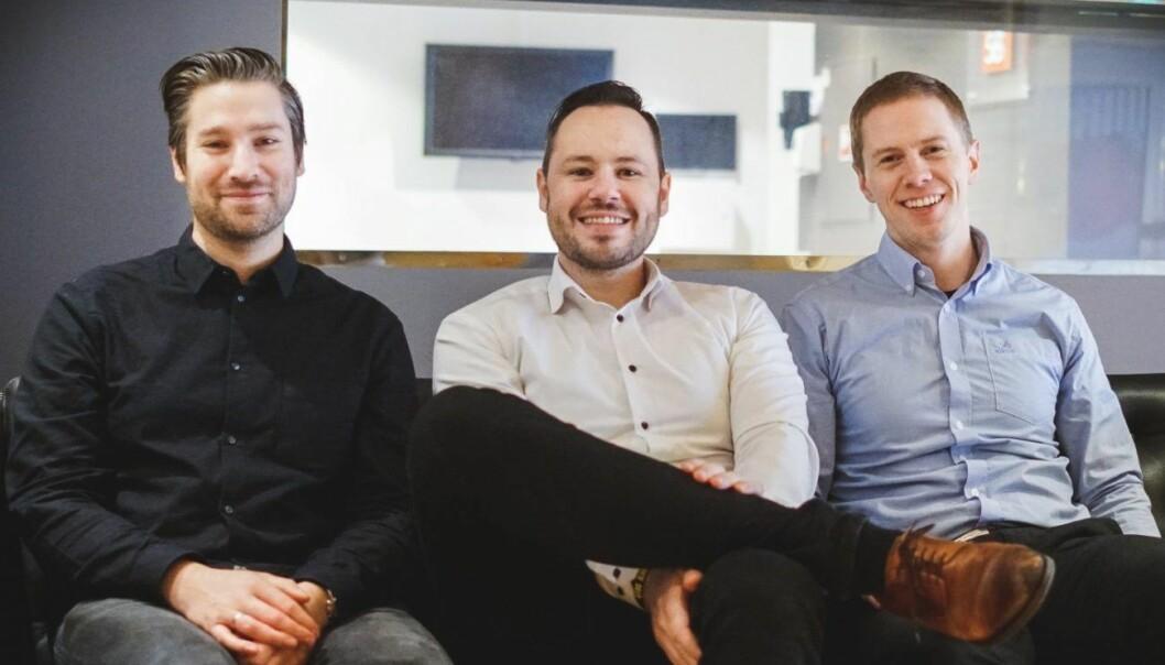 Fra venstre: Robin Sandborg, Espen Sæverud og Marius Hauken i Stacc X. Foto: Stacc X.