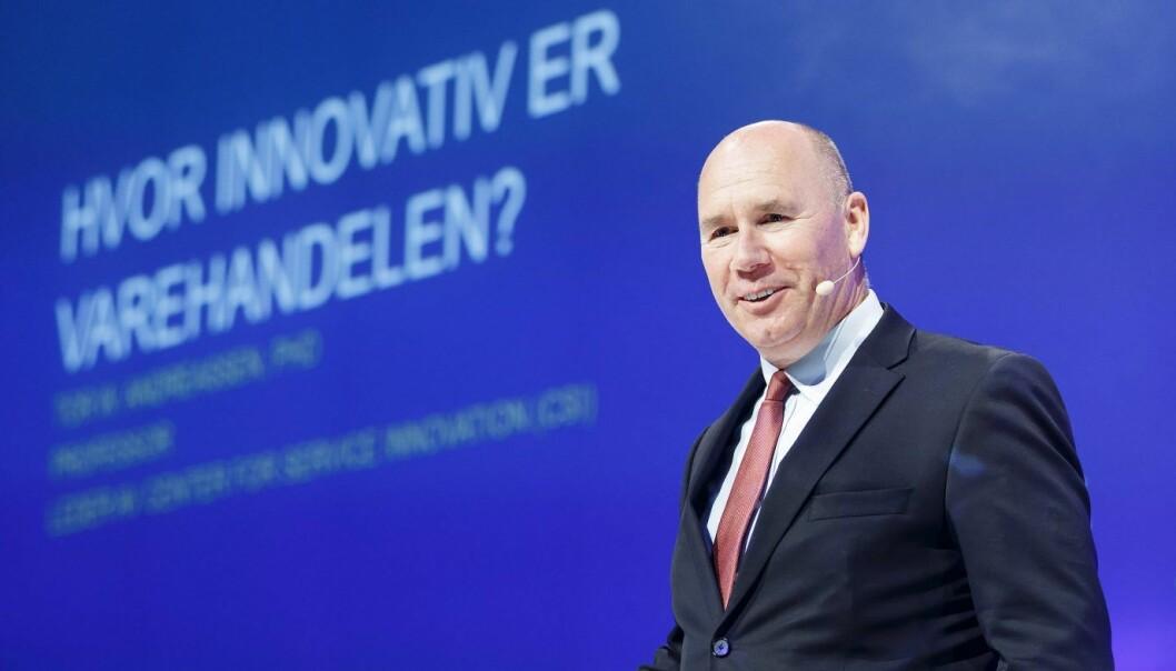 Professor Tor W. Andreassen under Handelskonferansen i Oslo i fjor.  Foto: Gorm Kallestad / NTB scanpix