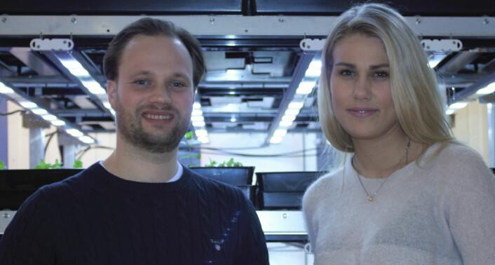 Jonathan Viklander og Silje Andersen, fotografert i de nye lokalene på Økern.