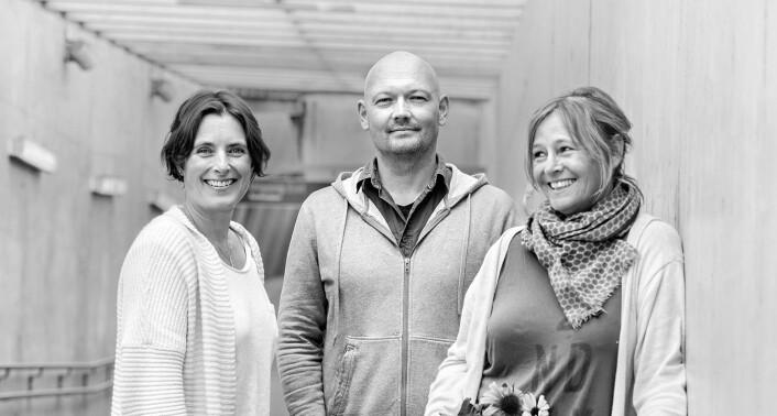 Bedd-gründerne Katja Marty Bye, Bjørn Bye og Jeanette Grønli.
