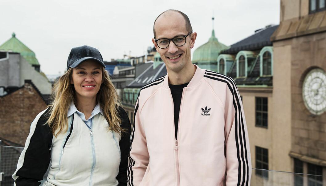 Martine Kveim og Andreas Slettvoll er to av gründerne i Chooose. Foto: Per-Ivar Nikolaisen