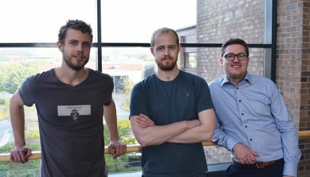 Boost AI. Her er gründerne Hadle Selsås, Lars Selsås og Henry Vaage Iversen. Foto Boost AI.