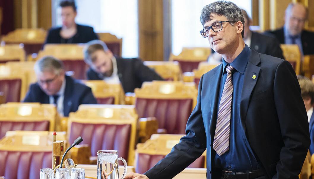 Per Espen Stoknes (MDG) i Stortingets spørretime. Foto: Vidar Ruud / NTB scanpix