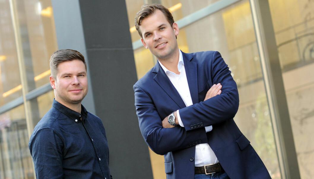 Kjartan Slette og Thomas Walle i Unacast. Foto: Unacast