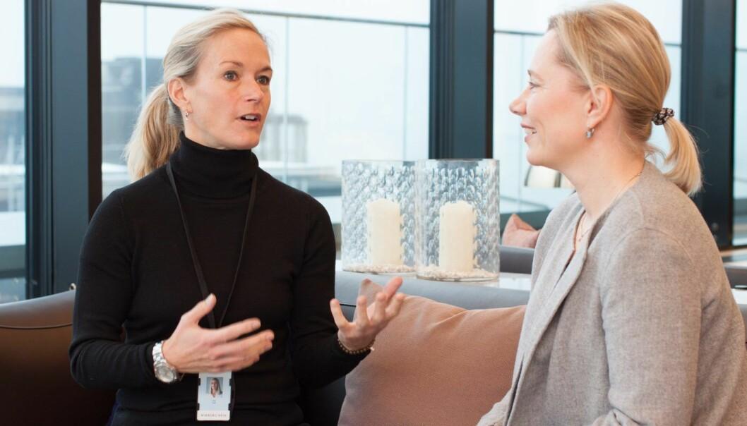 Line Coll (foreleser hentet inn av Wikborg Rein) og Mette Ahlquist (Wikborg Rein) snakker om det nye NHH-faget.