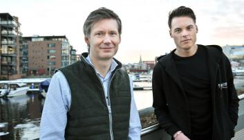 Øystein Skiri og Gustav Witzøe og deres Wiski Capital er blant investorene i Adminkit. Foto: Rune Sævik