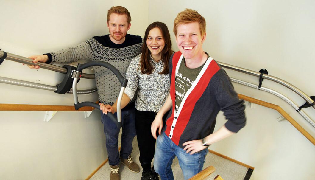 Fra venstre: Halvor Wold (Daglig leder), Ingrid Lonar (Teknisk sjef) og Eirik Gjelsvik Medbø (Markedssjef). Foto: AssiStep