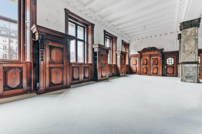 """Slik ser det foreløpig ut i rommet som skal romme """"members club"""". Foto: The Creators Community"""