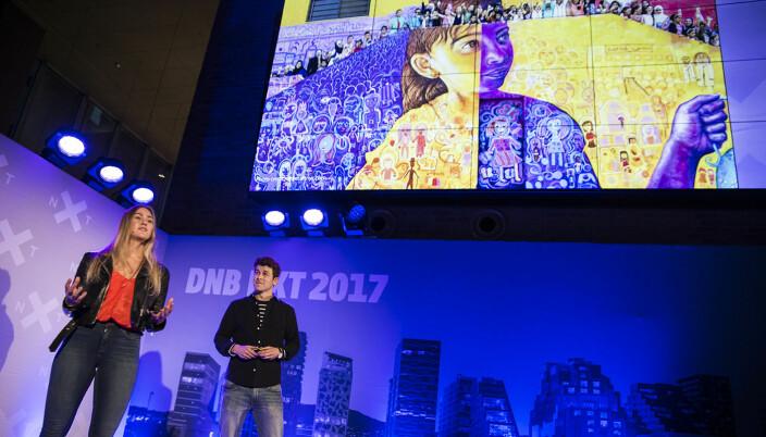 Diwala har ligget lavt det siste året, men i 2017 var oppmerksomheten stor, og selskapet deltok blant annet på DNBs 100Pitches, med sin løsning for at flyktninger kan verifisere sin identitet og kompetanse ved hjelp av blockchain. Foto: Per-Ivar Nikolaisen