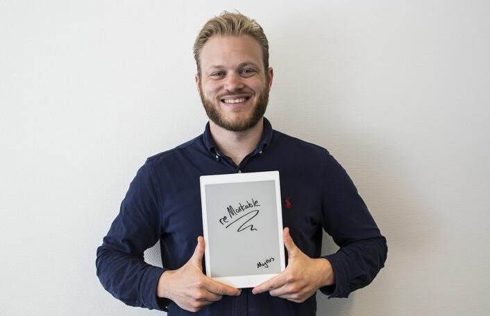 Gründer Magnus Haug Wanberg i reMarkable. Foto: Per-Ivar Nikolaisen