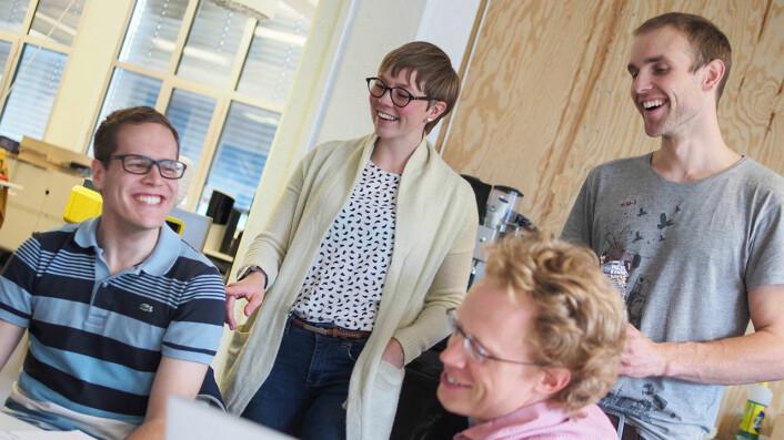 Teamet i klimatech-startupen Ducky. Foto: Ducky