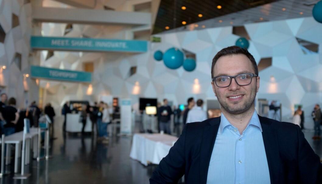 Daglig leder Nicolas Elvemo i GlucoSet. Foto: Johannes Jakobsen.