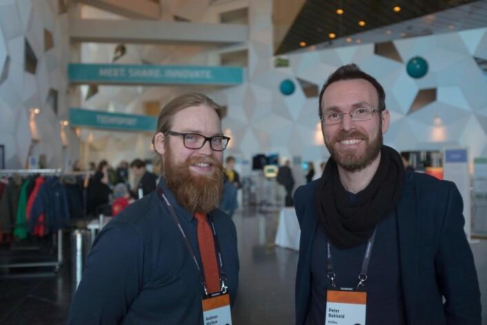 Fra venstre: Andreas Weibye og Peter Bakkeid i VizFlex. Foto: Johannes Jakobsen.