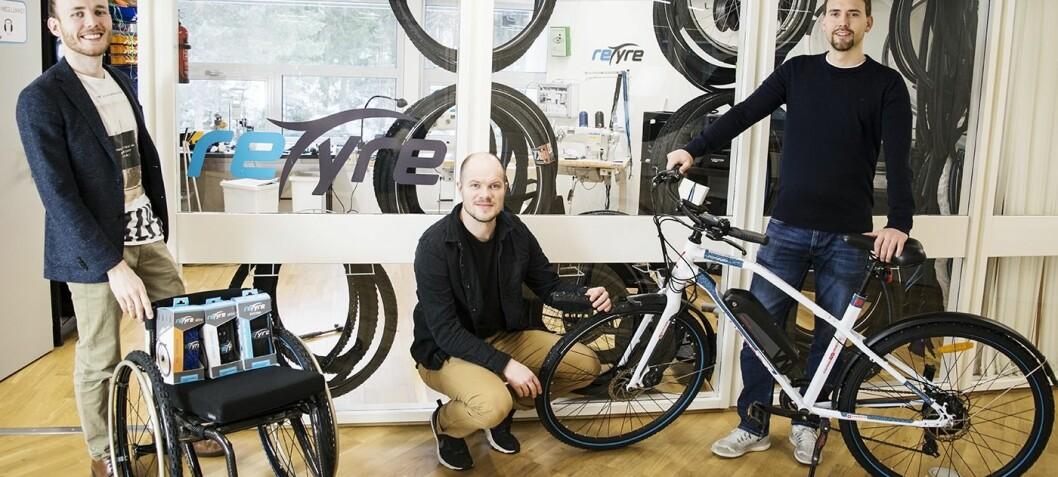 Gründerne som gjør det lett å skifte sykkeldekk ruller videre: Henter 11 millioner