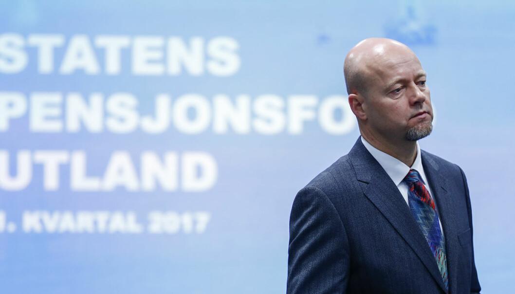 """Leder Yngve Slyngstad for Statens pensjonsfond, eller """"Oljefondet"""" om du vil. Foto: Terje Pedersen / NTB scanpix"""