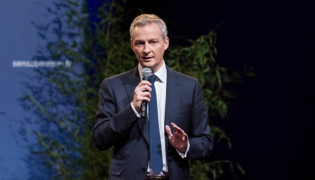 Finansminister Bruno Le Maire i Frankrike. Foto: Sens Commun/Flickr
