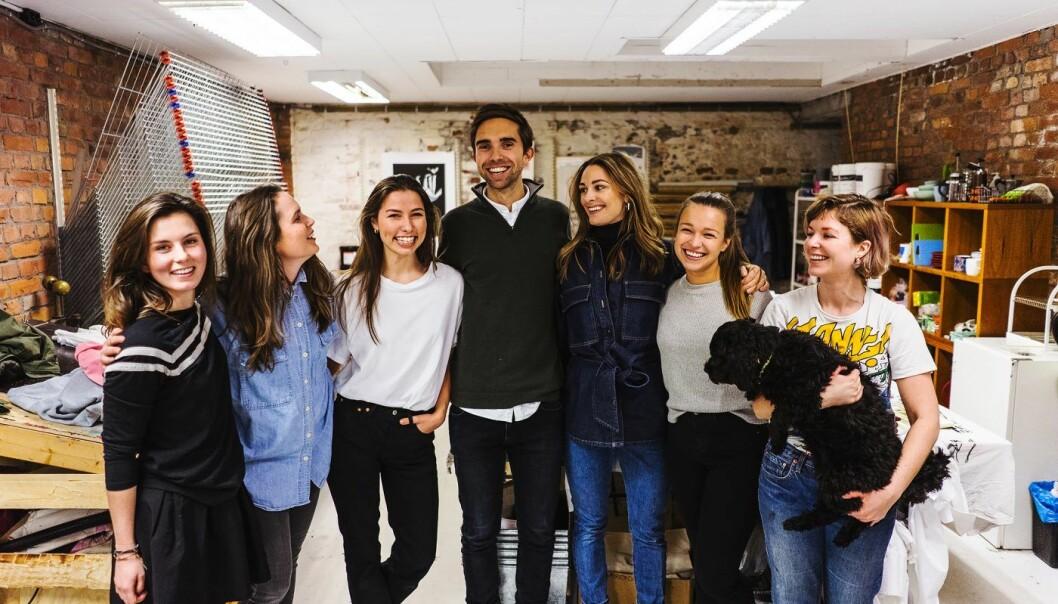 Tise-teamet, fra venstre:  Rebecca Sophia Moe, Anna Hognestad, Silje Aarsæther, Eirik Frøyland Rime, Jenny Skavlan, Emma Martine Lillemo, Mari Nordén (ekstern). Foto: Tise