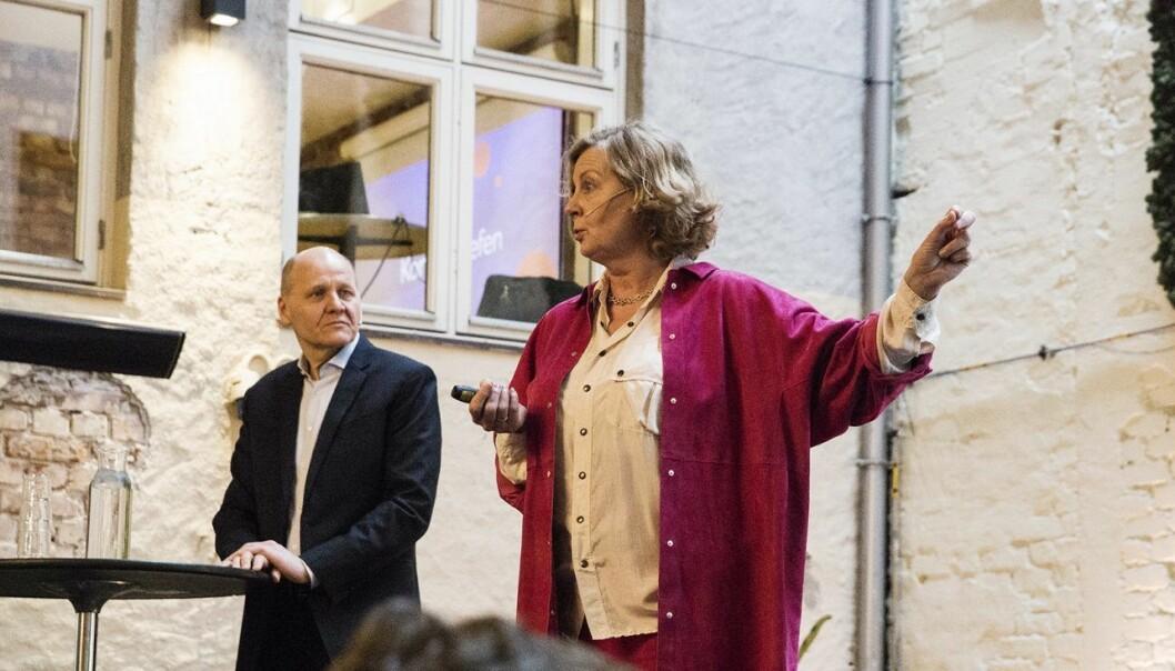 Sigve Brekke og Berit Svendsen  inviterte til lansering av Status Teknologi-Norge 2018 tidligere i år, men så ble det slutt. Foto: Per-Ivar Nikolaisen
