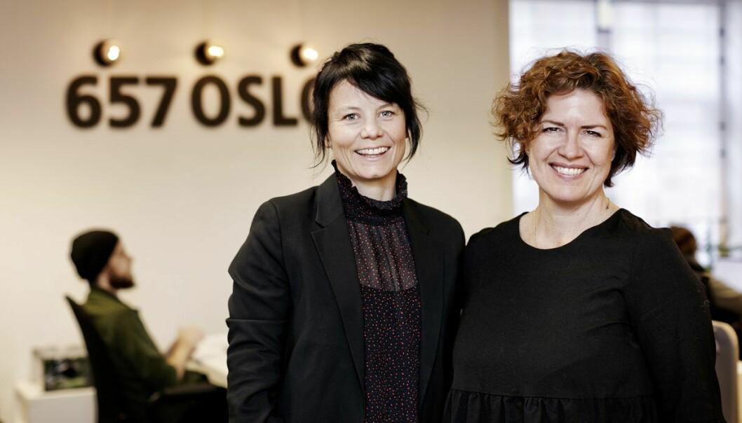 Camilla Watz Johannessen og Anniken Fjelberg i 657, da førstnevnte begynte som daglig leder i fjor. Foto: Oda Hveem