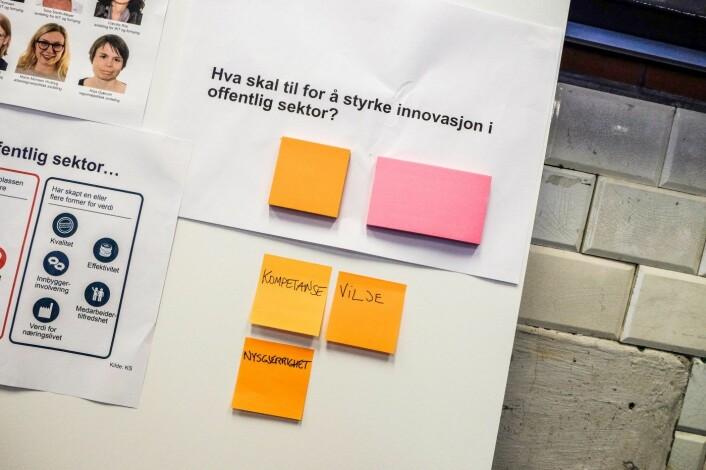 Kommunal- og moderniseringsminister Monica Mæland inviterte til oppstart for regjeringens arbeid med en stortingsmelding om innovasjon i offentlig sektor. Foto: Vilde Mebust Erichsen