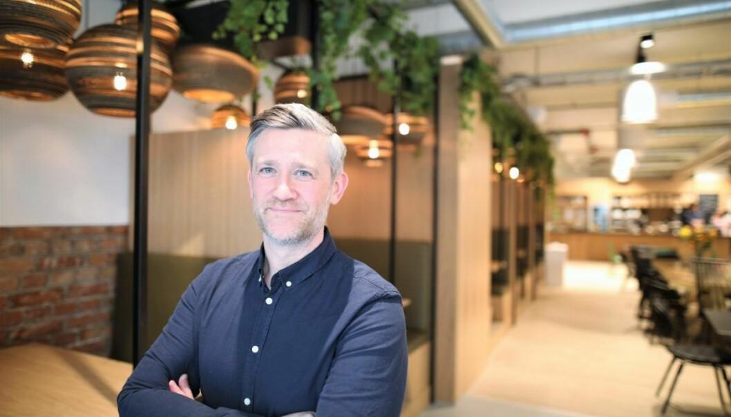 David Baum, ny sjef for Sparebank !, SR Banks innovasjonssatsning. Foto: Lucas Weldeghebriel.