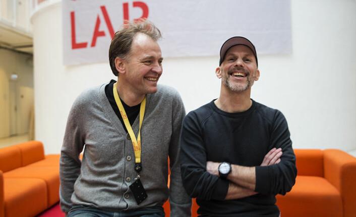 Per Einar Dyvik og Nissik Juell i StartupLab. Foto: Per-Ivar Nikolaisen