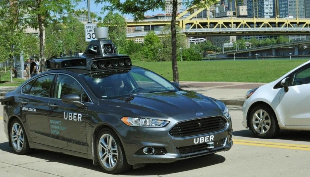 Ubers selvkjørende bil. Foto: Uber