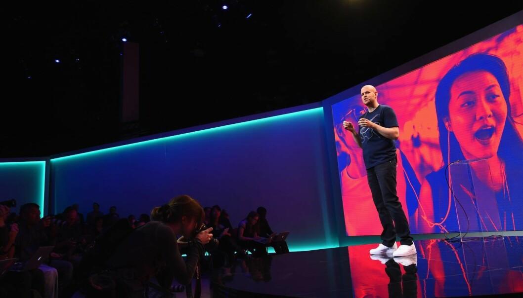 En av Spotifys grunnleggere og eiere, svenske Daniel Ek. (Photo by Michael Loccisano/Getty Images for Spotify)
