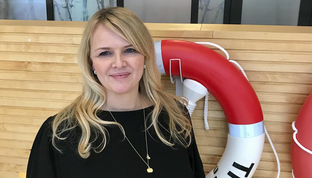 Kathrine Bjerga Tøraasen,  sjef for businessinnovasjon i Tryg, forteller at Tryg også ønsker å finne ut av hva de kan lære av de ulike startupene.