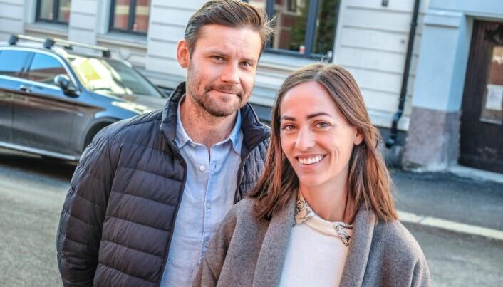 Psykolog Henrik Haaland Jahren og Hermine Bonde Jahren er gründerne bak helsetjenesten Braive. Foto: Vilde Mebust Erichsen