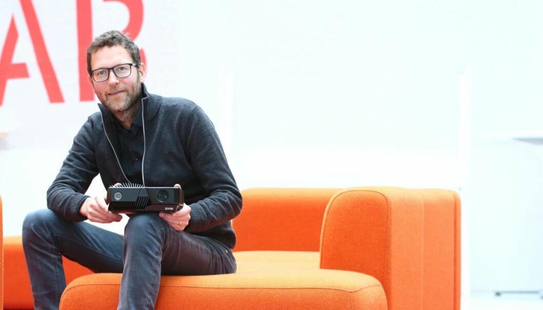 Medgründer og CEO Henrik Schumann-Olsen i Zivid Labs. Foto: Johannes Jakobsen