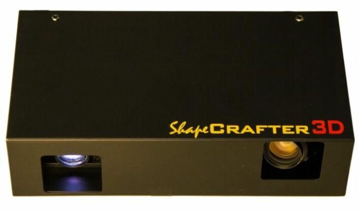 Den første fungerende prototypen. Prosjektet kalte de da ShapeCrafter. Foto: Zivid Labs