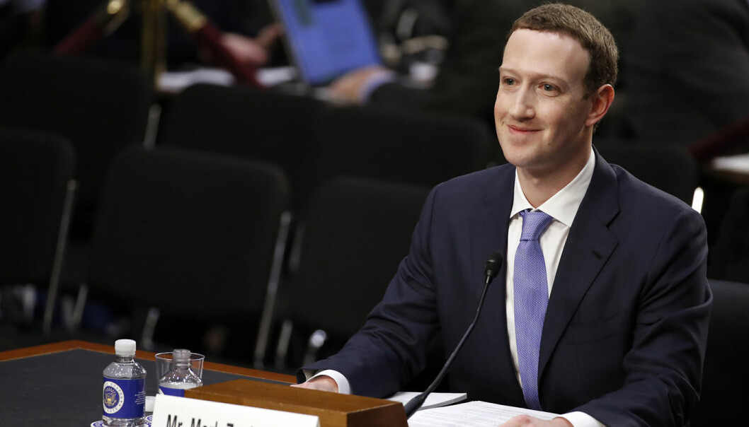 Facebook CEO Mark Zuckerberg på plass før en høring i Senatet. Foto: AP, Alex Brandon)