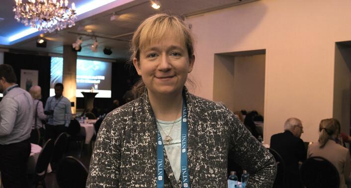 Ekaterina Prasolova-Førland forsker på VR-teknologi ved NTNU. Foto: Benedicte Tandsæther-Andersen