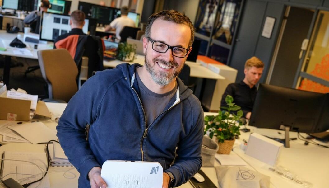 Viva Labs' daglig leder Henrik Holen, her på Myrens verksted. Foto: Vilde Mebust Erichsen