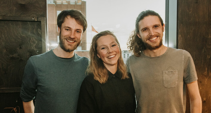 Nathan Bird, Silje Solberg og Mads Simonsen fra Ducky. Foto: Benedicte Tandsæther-Andersen