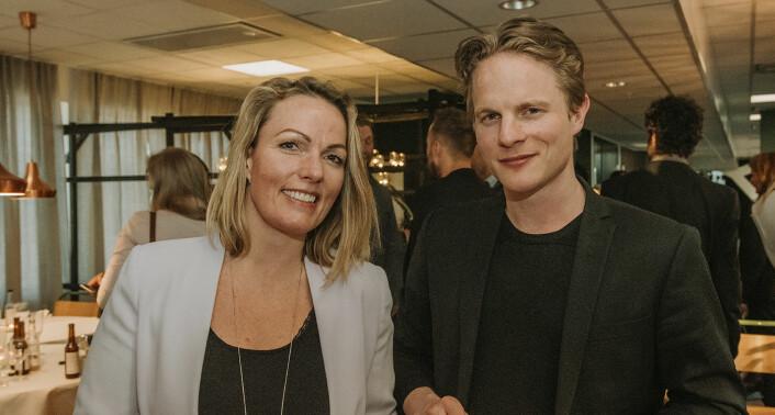 Nyby-gründerne Kristina Tuhus og Fredrik Gulowsen hadde også møtt frem til pitching på Folk. Foto: Benedicte Tandsæther-Andersen