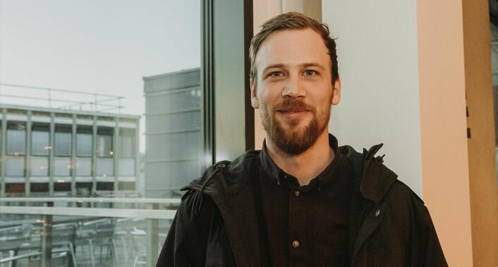 Christian Drabløs fra Byspire forteller at startupen vurderer å finne asiatiske investorer. Foto: Benedicte Tandsæther-Andersen