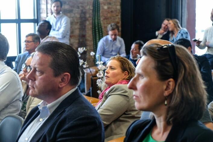 Rekordmange investorer var interessert i årets startups på SNÖ Ventures event: – Vi måtte sette stopp ved 110, sier Teodor Bjerrang Foto: Vilde Mebust Erichsen